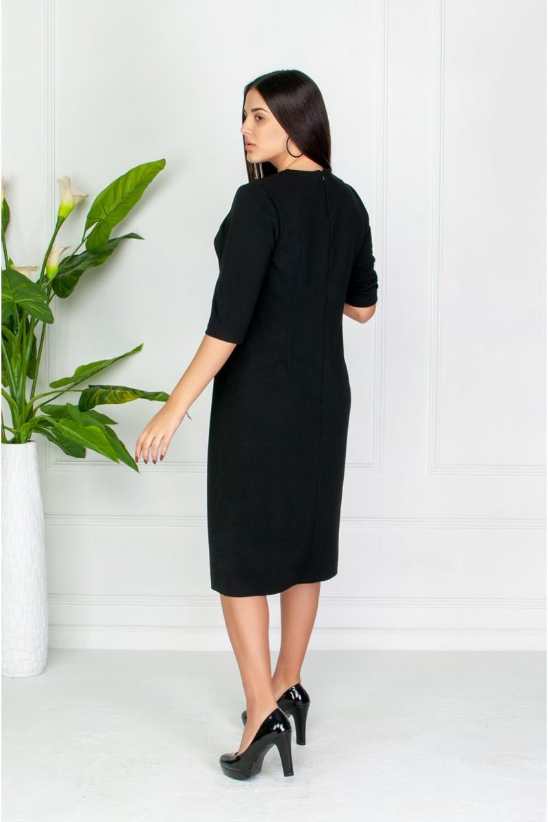 Гарне плаття з розрізом спереду чорне