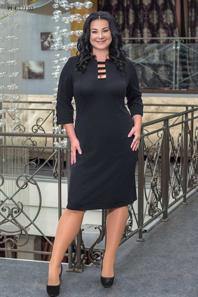 Жіноче плаття великого розміру чорне ошатне