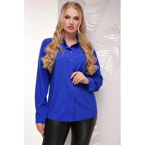 Женская рубашка большого размера цвета электрик