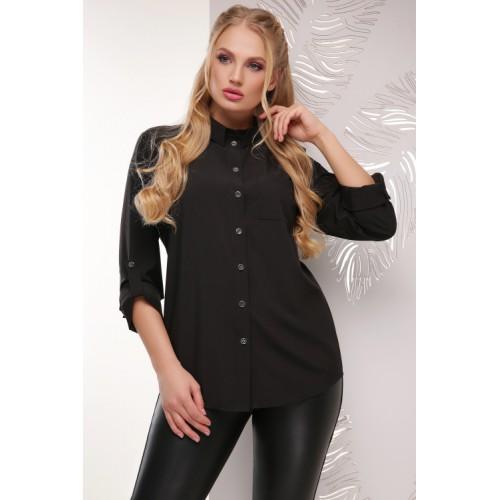 Жіноча сорочка великого розміру кольору чорна
