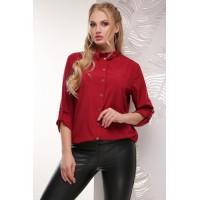 Жіноча сорочка великого розміру кольору бордо