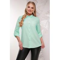 Жіноча сорочка великого розміру кольору мята