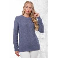 Жіночий стильний светр кольору світлий джинс