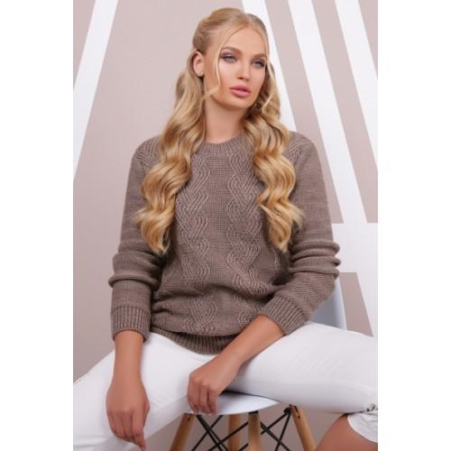 Жіночий стильний светр кольору кави