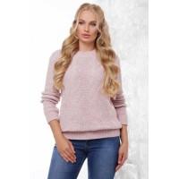 Жіночий в'язаний светр кольору пудра