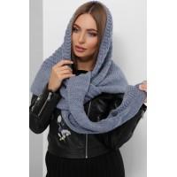 Жіночий шарф косинка Шарф-бактус в'язаний