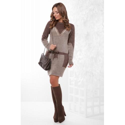 Тепле плаття жіноче вовняне Платье туніка