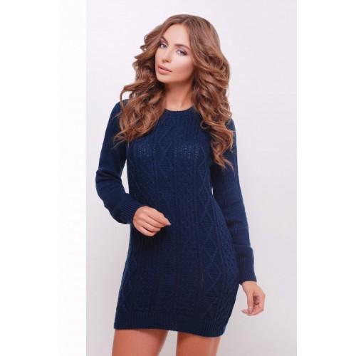 Платье-туника темно-синя