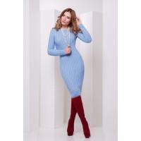 В'язане плаття блакитне