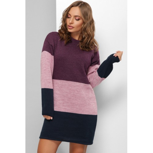 Сукня жіноча тепле Сукня- светр фіолет
