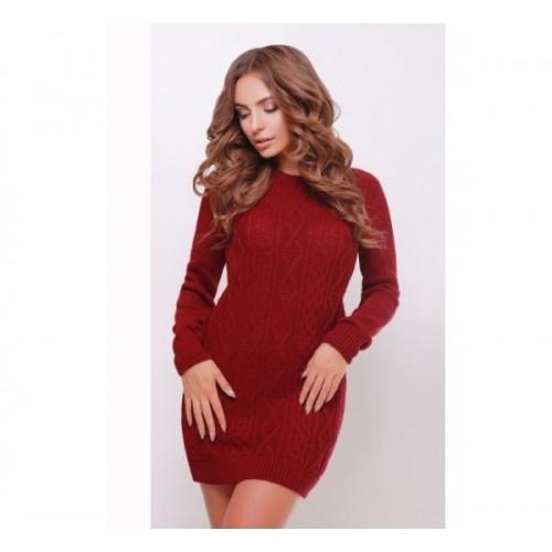 Платье-туника 143 бордовый