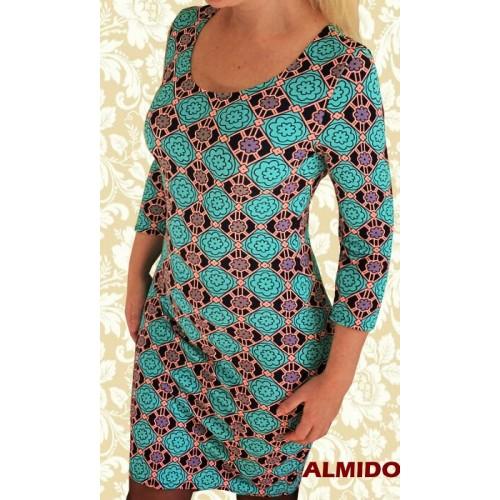 Стильное яркое платье футляр из трикотажа